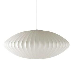 White 1 Light Unique Statement Geometric Pendant On Sale Overstock 30886012
