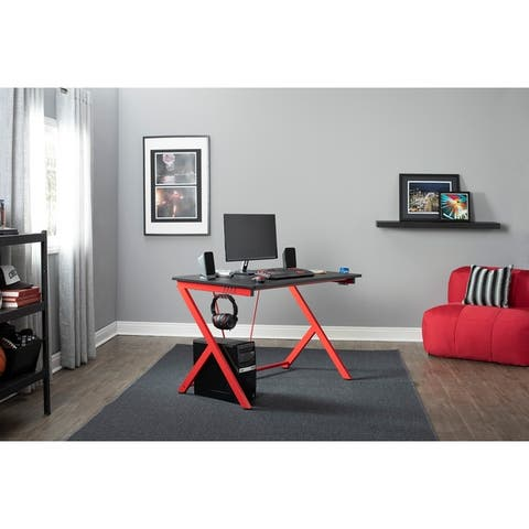 SD Gaming Quest PC Gamer Computer Desk with Charging Station 51254