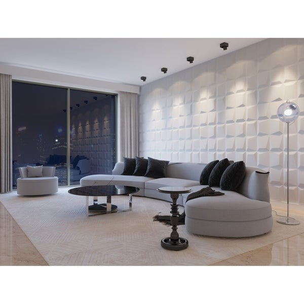 """3D Fiber Wall Decor Panelling, 32""""x25""""/pc - 6pc. Opens flyout."""