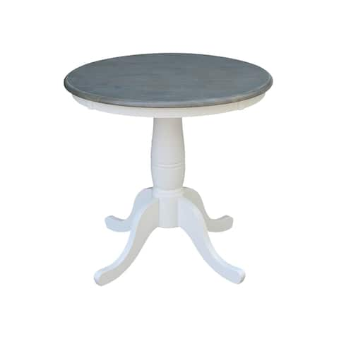 """30"""" Round Top Pedestal Table - White/Heather Gray - N/A"""