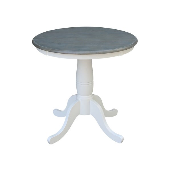 """30"""" Round Top Pedestal Table - White/Heather Gray - N/A. Opens flyout."""