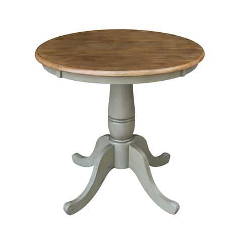 """30"""" Round Top Pedestal Table - Hickory/Stone"""