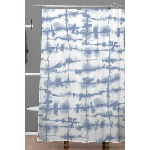 Deny Designs Lateral Slate Blue Shower Curtain