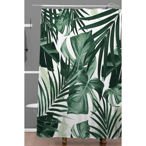Deny Designs Tropical Jungle Leaves Shower Curtain