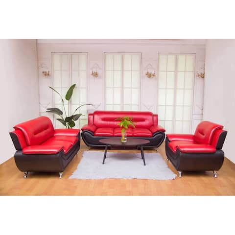 Greatime SS2301 leatherette Modern sofa,love seat&Chair 3piece Sets