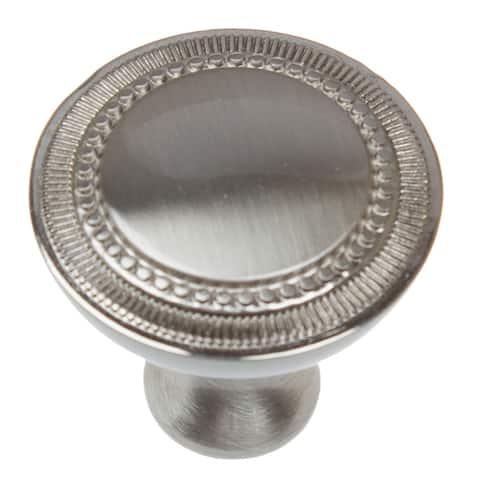GlideRite 5-Pack 1-1/4 in. Satin Nickel Round Cabinet Knobs - Satin Nickel