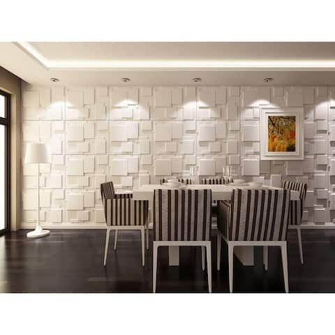 """3D Embossed PVC Panel For Wall Decor, 20""""x20""""/pc"""