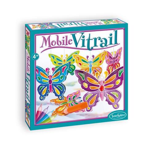 Mobile Vitrail - Crystal Butterflies
