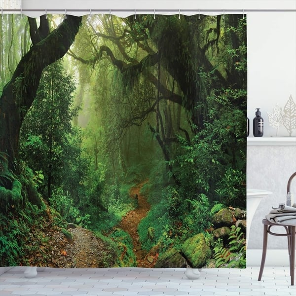 Bath Forest Sea Lake Landscape Fabric Waterproof Bathroom Shower Curtain With Hooks Home Furniture Diy Mhg Co Ke