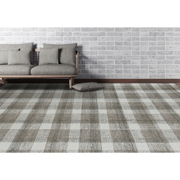 Tennessee Plaid Hand-Tufted Wool Area Rug. Opens flyout.