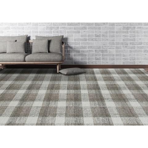 Tennessee Plaid Hand-Tufted Wool Area Rug