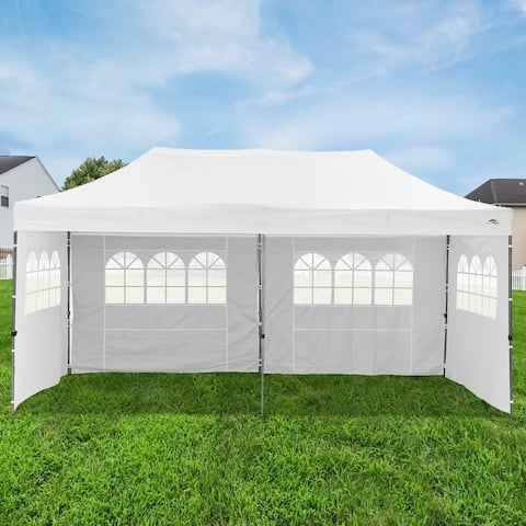 Ainfox 10x20FT Outdoor Pop up Patio Canopy Tent White