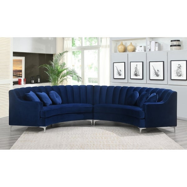 Semi-Circular Velvet Sectional Sofa