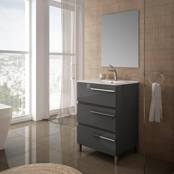 Eviva Olivia 20 Inch By 13 Inch Grey Free Standing Bathroom Vanity Overstock 30891943