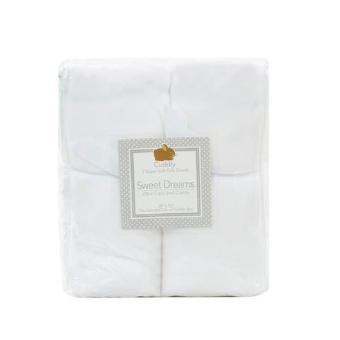 Microplush Super Soft Fitted Crib Sheets (Set of 2)
