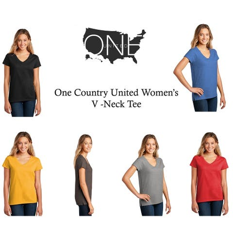One Country United Women's V-Neck Tee