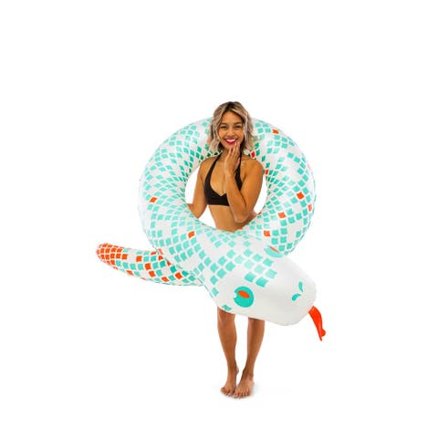 BigMouth Inc. Coiled White Snake Pool Float