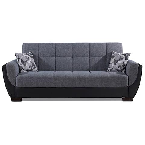 Armada Air Fabric Upholstery Sleeper Sofa Bed with Storage