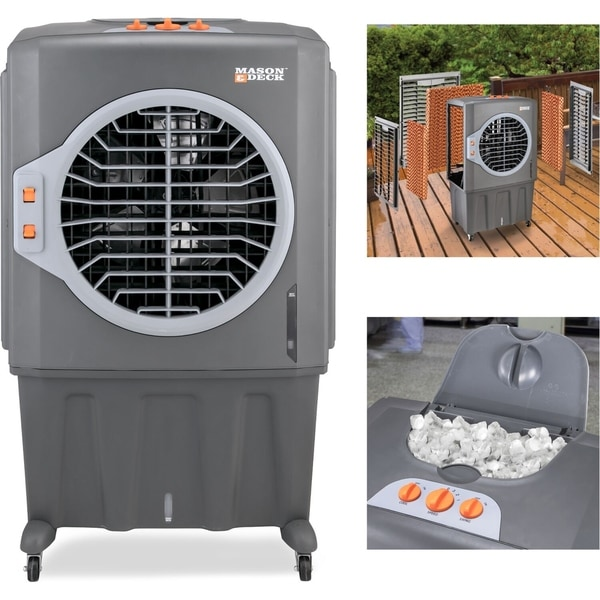2800 CFM Indoor/Outdoor Portable Evaporative Air Cooler for Amplified Cooling