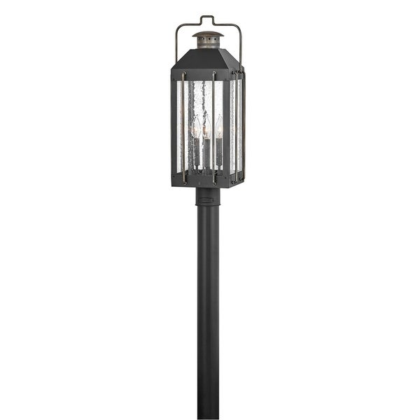 Fitzgerald 3-Light Large Textured Black Outdoor Pier Mount. Opens flyout.