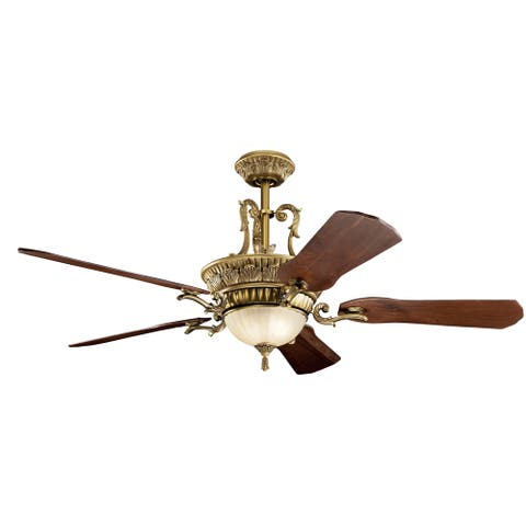 Kichler Lighting Kimberley 60-inch LED Fan Burnished Antique Brass