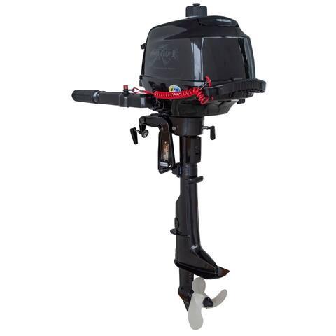4 Stroke 2.6 HP Horse Power Outboard Motor Tiller 5500 RPM, Recoil