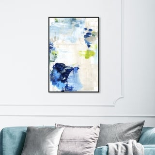 Link to Oliver Gal Abstract Wall Art Framed Canvas Prints 'Perks' Paint - Blue, White Similar Items in Canvas Art