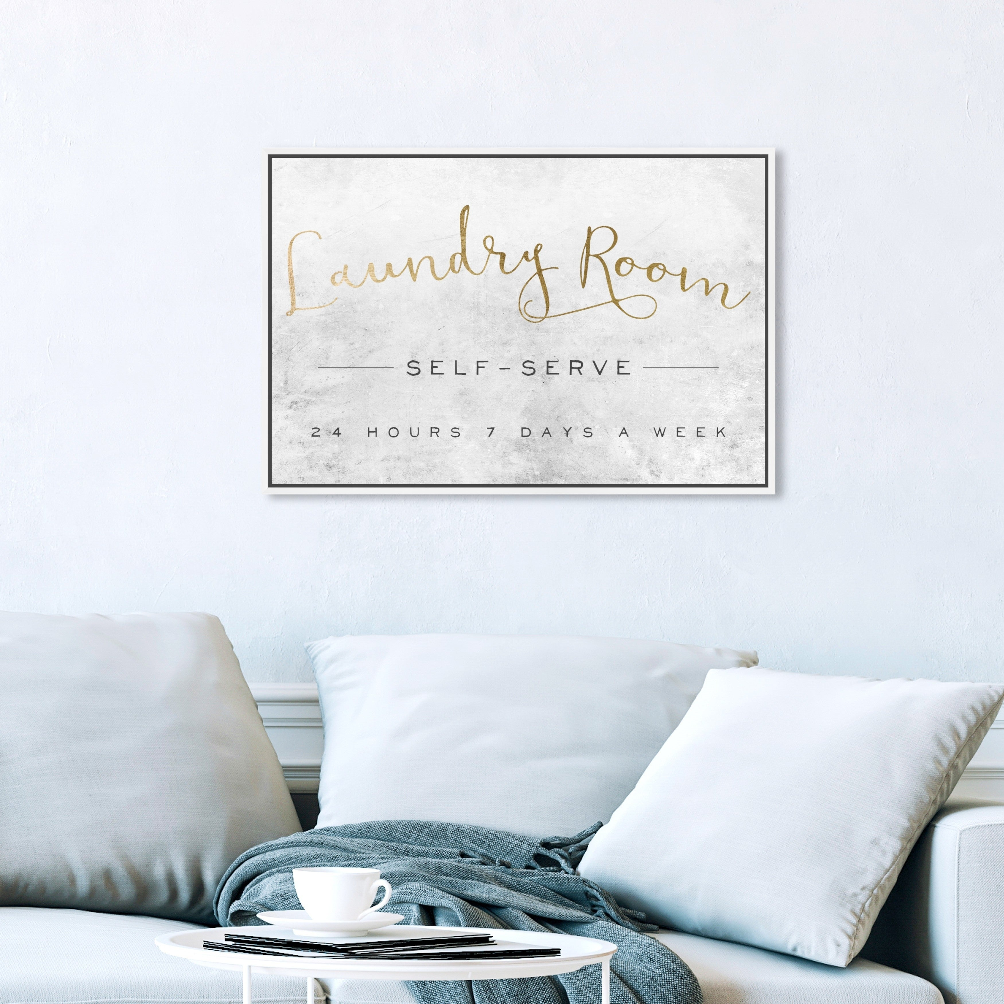 Shop Oliver Gal Typography And Quotes Wall Art Framed Canvas Prints Laundry Room Family Quotes And Sayings Gold White Overstock 30896499