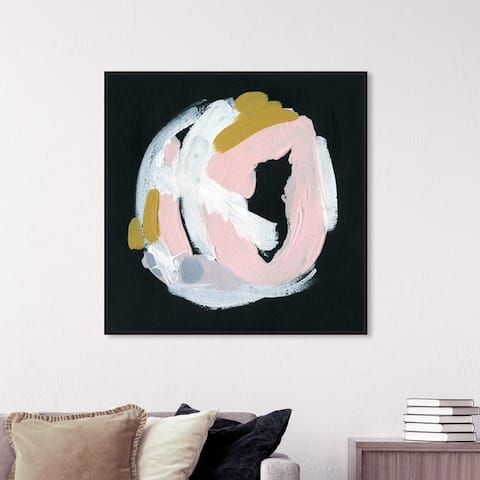Oliver Gal Abstract Wall Art Framed Canvas Prints 'Sombra' Paint - Black, White