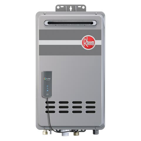 Rheem Mid-Efficiency 9.5GPM Outdoor Natural Gas Tankless Water Heater with Built-In Econet