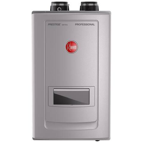 Rheem Prestige High Efficiency 11GPM Indoor Natural Gas Tankless Water Heater with built-in Recirculator