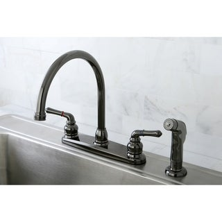 Link to Water Onyx Centerset Kitchen Faucet in Black Stainless Steel Similar Items in Faucets