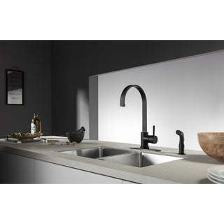 Link to Concord Single-Handle Kitchen Faucet with Side Sprayer Similar Items in Faucets