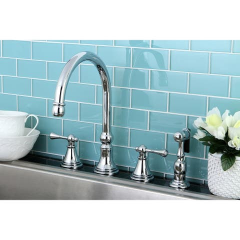 Governor Widespread Kitchen Faucet with Brass Sprayer
