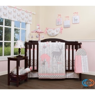 GEENNY Deer Family 13 Piece Baby Nursery Crib Bedding Set