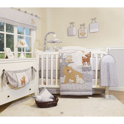 GEENNY Enchanted Forest Woodland 13 Piece Baby Nursery Crib Bedding Set