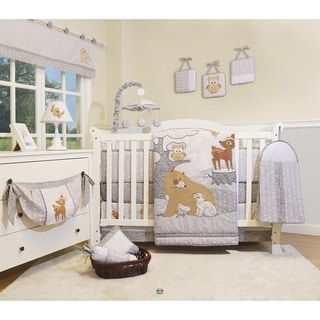 Link to GEENNY  Enchanted Forest Woodland 13 Piece Baby Nursery Crib Bedding Set Similar Items in Bedding Sets