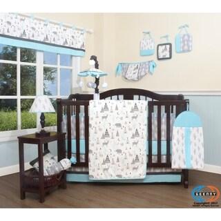 GEENNY New Woodland Deer 13 Piece Baby Nursery Crib Bedding Set