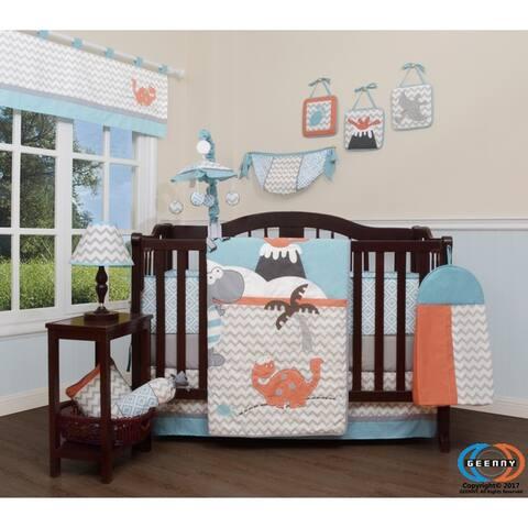 GEENNY Dinosaurs 13 Piece Baby Nursery Crib Bedding Set