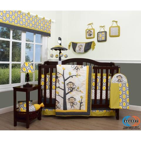 GEENNY Monkey GO Happy 13 Piece Baby Nursery Crib Bedding Set