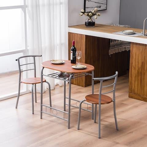 Modern 3-piece Table/Stool Dining Set