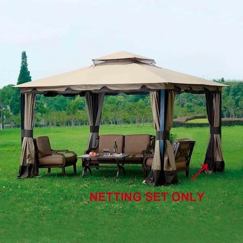 Sunjoy Replacement Mosquito Netting for Monterey Gazebo (10'X12') L-GZ215PST-4