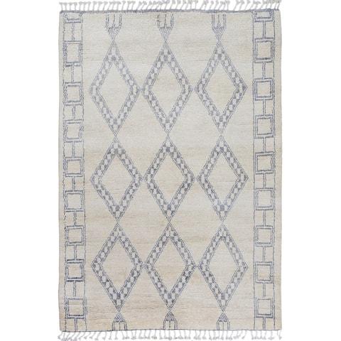 "Diamond Tribal Moroccan Home Decor Area Rug Handmade Foyer Carpet - 5'1"" x 8'6"""