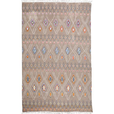 "Large Tribal Moroccan Area Rug Handmade Living Room Wool Carpet - 9'8"" x 14'3"""