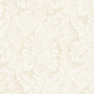 Link to Valentine Damask Wallpaper in Taupe & Linen Similar Items in Wall Coverings