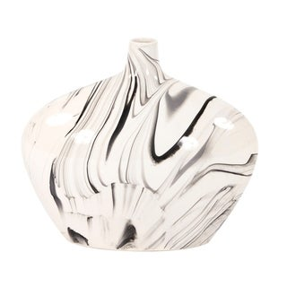 Link to Porcelain Oblong White and Black Swirl Vase Similar Items in Decorative Accessories