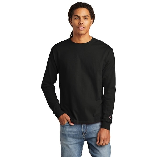 Champion Mens Cotton Long Sleeve Tee