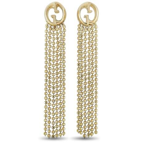 Gucci 1973 Yellow Gold Drop Earrings