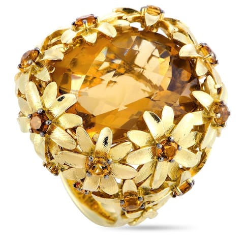 Roberto Coin Margherita Yellow Gold and Citrine Ring Size 6.5