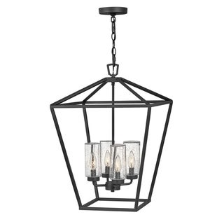 Link to Alford Place 4-Light Medium Hanging Museum Black Outdoor Chandelier Similar Items in Outdoor Ceiling Lights